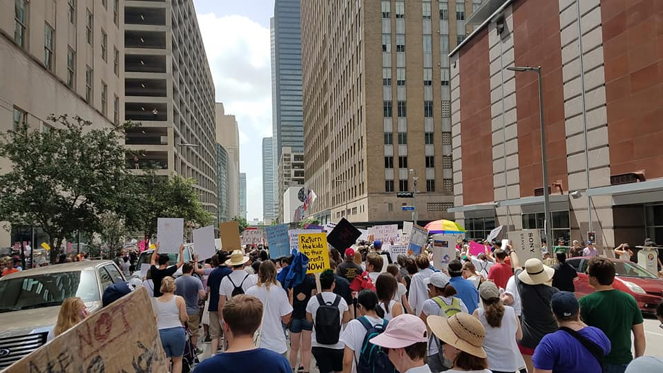 National Day of Action--Families Belong Together brings 3,000 to protest outside Sen. Ted Cruz's Houston office.