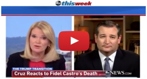Sen. Ted Cruz comments on ABC News to Fidel Castro's death