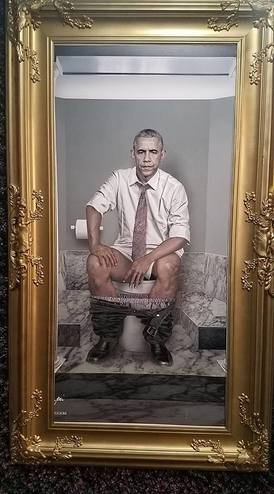 President Obama on the throne